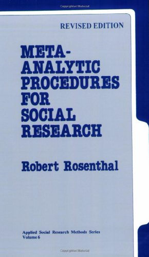 Meta-Analytic Procedures for Social Research 9780803942462