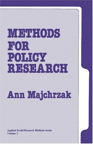 Methods for Policy Research 9780803920606