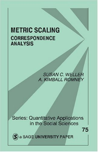 Metric Scaling: Correspondence Analysis 9780803937505