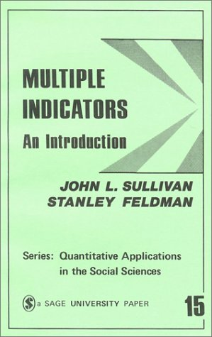 Multiple Indicators: An Introduction 9780803913691