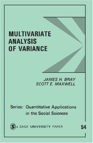 Multivariate Analysis of Variance 9780803923102