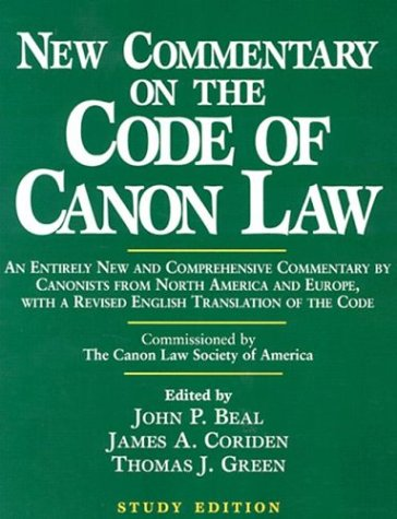 New Commentary on the Code of Canon Law (Study Edition) 9780809140664