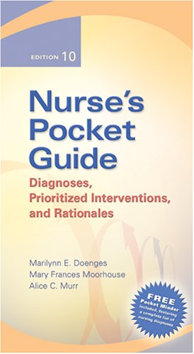 Nurse's Pocket Guide: Diagnoses, Prioritized Interventions, and Rationales 9780803614802