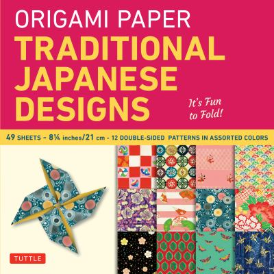 Origami Paper Traditional Japanese Designs Large [With Origami Paper] 9780804841900