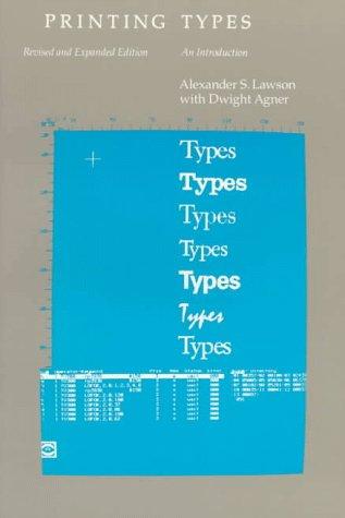 Printing Types (9780807066614) photo