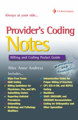 Provider's Coding Notes: Billing and Coding Pocket Guide 9780803617452