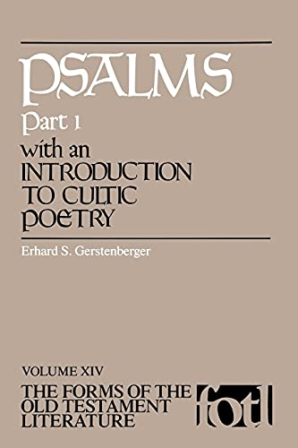 Psalms, Part 1, with an Introduction to Cultic Poetry 9780802802552