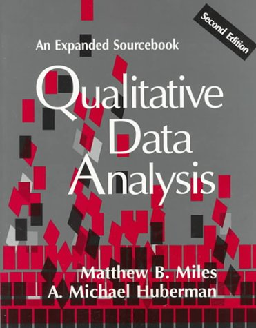 Qualitative Data Analysis: An Expanded Sourcebook 9780803955400