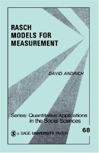 Rasch Models for Measurement 9780803927414