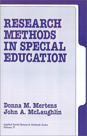 Research Methods in Special Education 9780803948099
