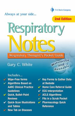Respiratory Notes: Respiratory Therapist's Pocket Guide 9780803629226