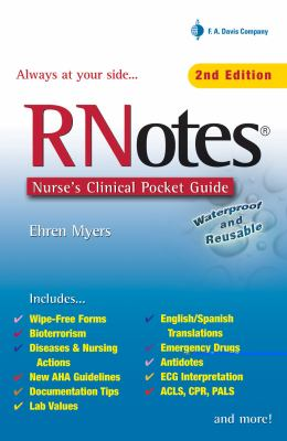 Rnotes: Nurse's Clinical Pocket Guide 9780803613355