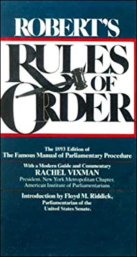 Robert's Rules of Order 9780808501558