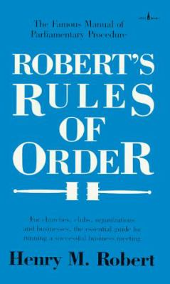 Robert's Rules of Order 9780800786106