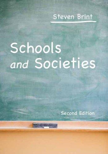 Schools and Societies 9780804750738
