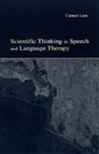 Scientific Thinking in Speech 9780805840292