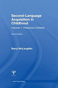 Second Language Acquisition in Childhood: Volume 1: Preschool Children 9780805800951