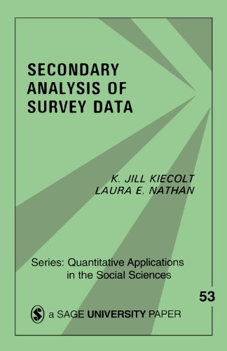 Secondary Analysis of Survey Data 9780803923027