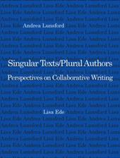 Singular Text/Plural Authors: Perspectives on Collaborative Writing 3356779