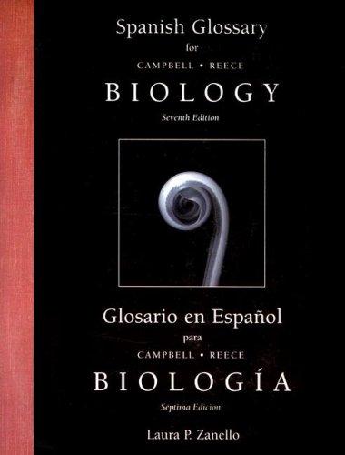 Spanish Glossary Biology 9780805371826