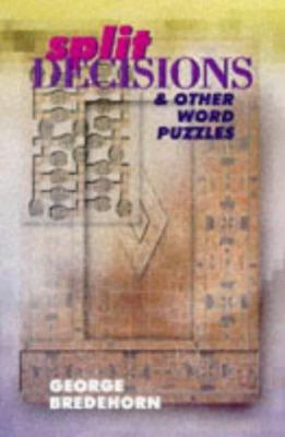 Split Decisions & Other Word Puzzles 9780806959627