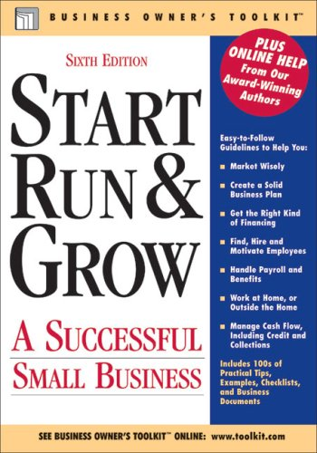 Start Run & Grow a Successful Small Business 9780808017943