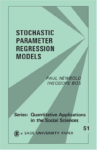 Stochastic Parameter Regression Models 9780803924253