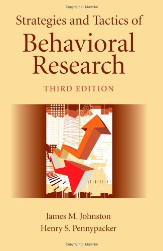 Strategies and Tactics of Behavioral Research 9780805858822