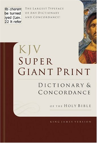 Super Giant Print Bible Dictionary and Concordance 9780805494921