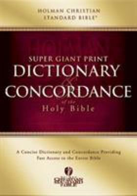 Super Giant Print Dictionary and Concordance 9780805494891
