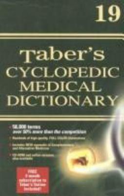 Taber's Cyclopedic Medical Dictionary 9780803606562