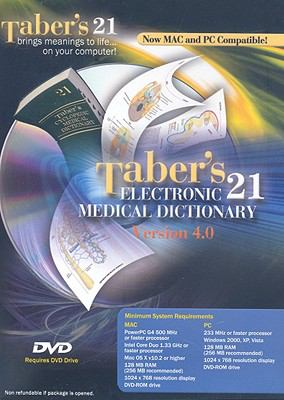 Taber's Electronic Medical Dictionary: Version 4.0 9780803619456