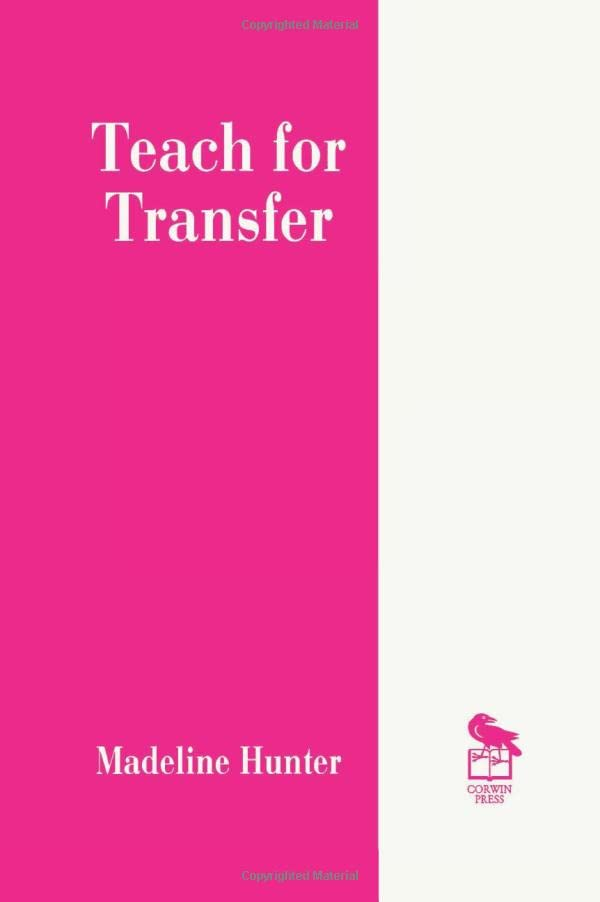 Teach for Transfer 9780803963221