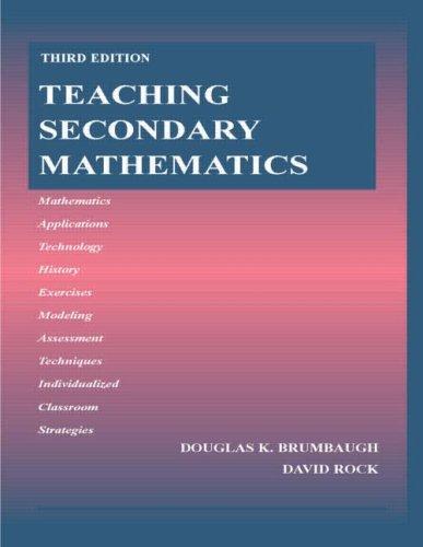 Teaching Secondary Mathematics 9780805854718