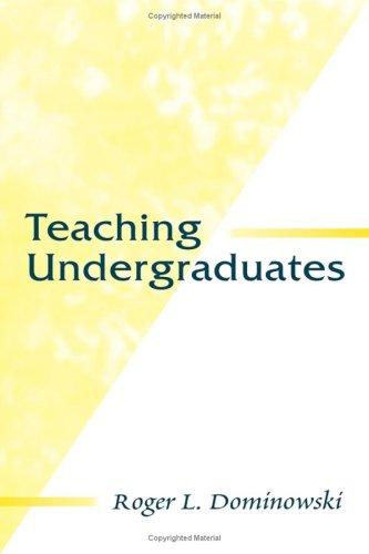 Teaching Undergraduates 9780805829891