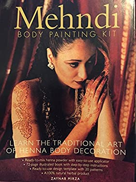 The Mehndi Kit With 20 Design Transfers 1 Tube Henna 1 Tube Oil By