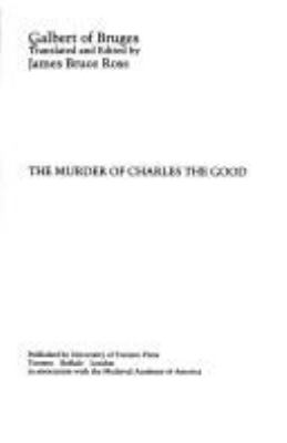 The Murder of Charles the Good, Count of Flanders 9780802064790