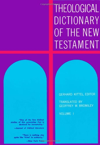 Theological Dictionary of the New Testament 9780802822437