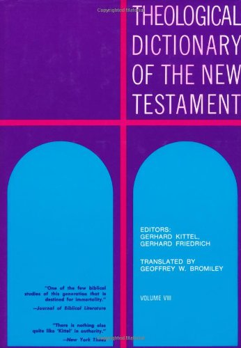 Theological Dictionary of the New Testament 9780802822505