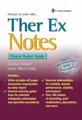 Ther Ex Notes: Clinical Pocket Guide 9780803620773