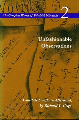 Unfashionable Observations 9780804723824