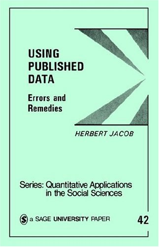 Using Published Data: Errors and Remedies 9780803922990