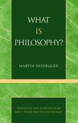 What Is Philosophy? 9780808403197