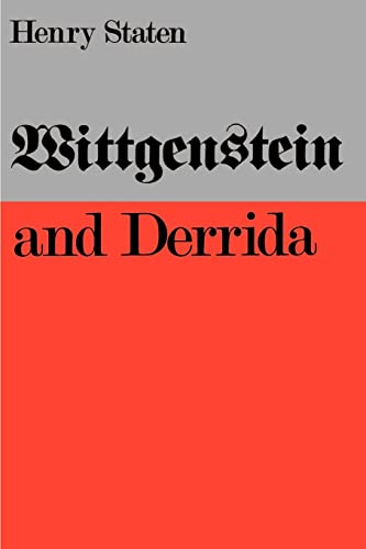 Wittgenstein and Derrida 9780803291690