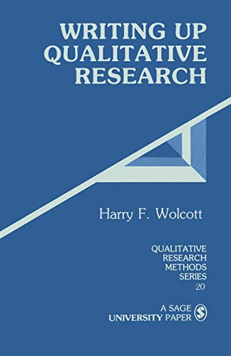 Writing Up Qualitative Research 9780803937932