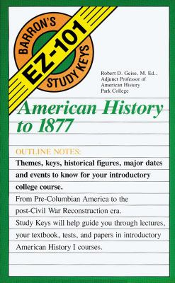 American History to 1877 9780812047370