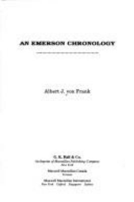 An Emerson Chronology