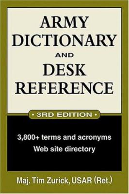 Army Dictionary and Desk Reference 9780811731546