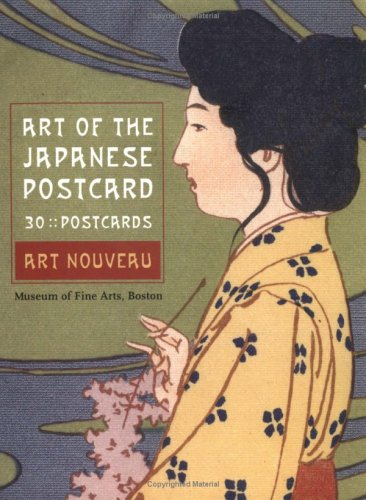 Art of the Japanese Postcard: 30 Postcards: Art Nouevau 9780811850841