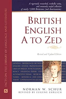 British English A to Zed 9780816042388